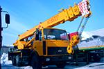 услуги крана автомобильного 25 тонн Машека