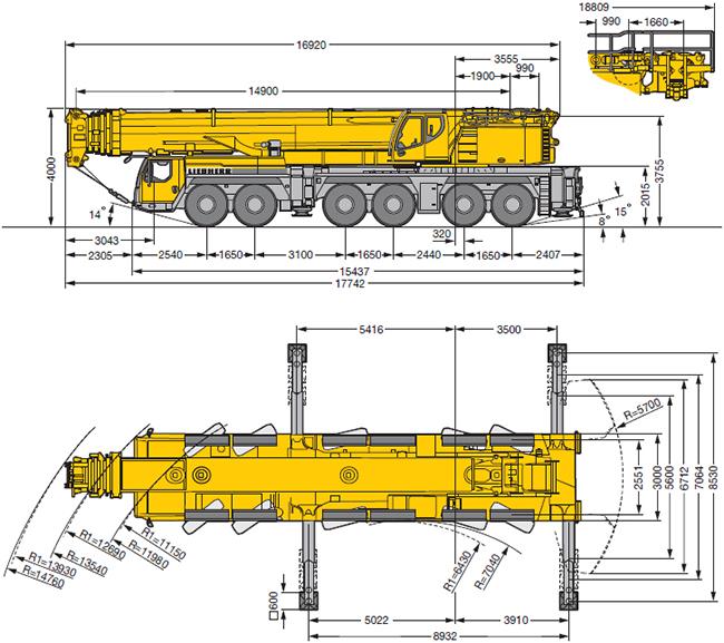 Аренда автокрана 350 тонн Liebherr LTM 1350 в Санкт-Петербурге