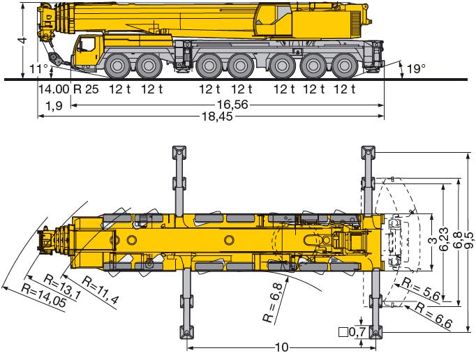 400 тонн Liebherr LTM 1400