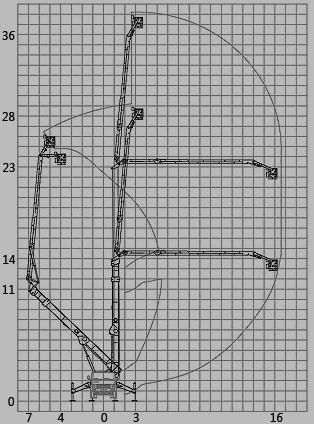 График (схема) вылета стрелы