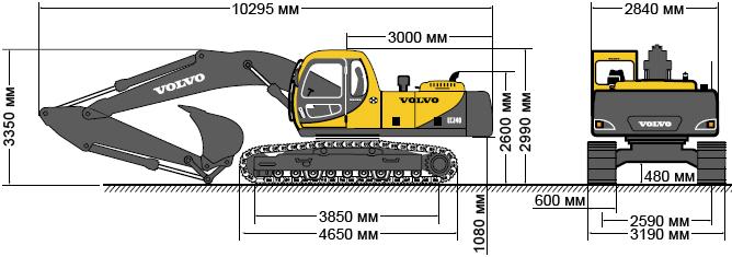 экскаватора Volvo EC 240 в