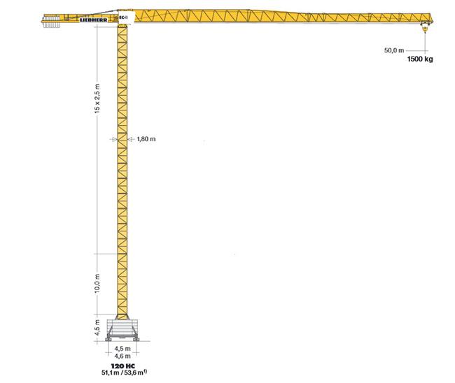 Аренда башенного крана 6 тонн